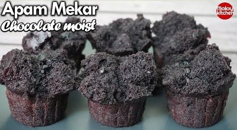 Apam coklat kukus mudah   moist dan sedap