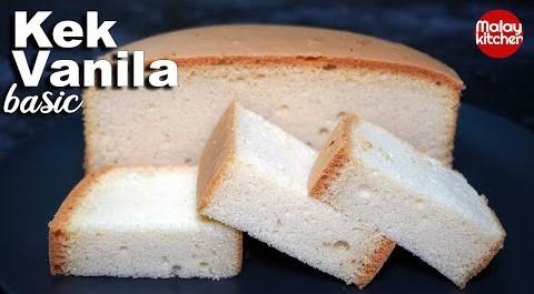Resepi Kek vanilla simple | Gebu dan Sedap