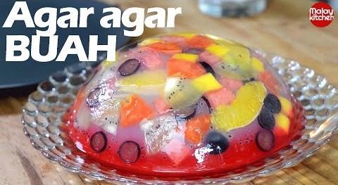 Agar agar buah buahan | fruit cake jelly