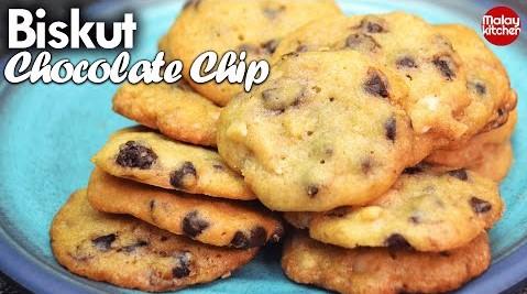 Biskut chocolate chip  | Sukatan Cawan