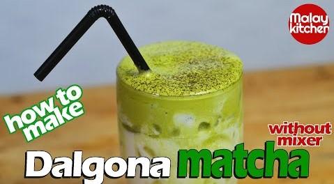 Dalgona matcha recipe | Dalgona green tea