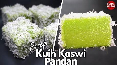 Resepi kuih kaswi pandan Sukatan cawan